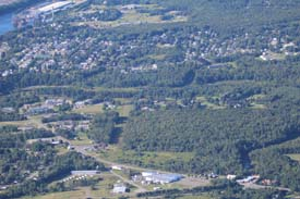 Winslow Maine aerial photo